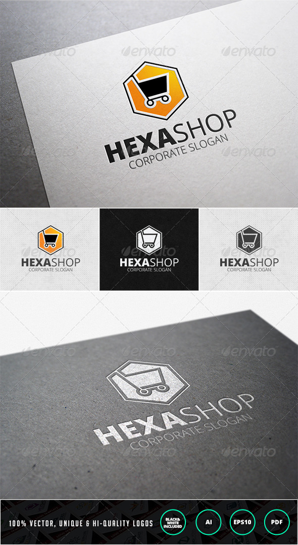 GraphicRiver Hexa Shop Logo Template 7208042