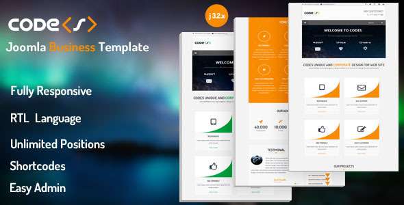 ThemeForest Codes Responsive Joomla Business Template 7208083
