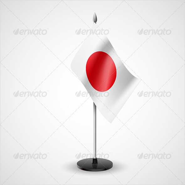 GraphicRiver Table Flag of Japan 7208238