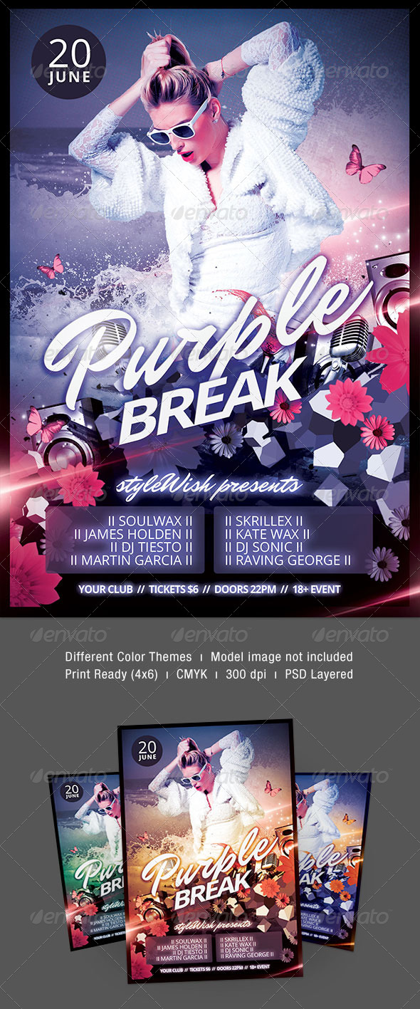 GraphicRiver Purple Break Flyer 7208410