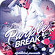 Purple Break Flyer - GraphicRiver Item for Sale