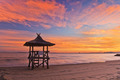 Sunset On The Beach And Lifeguard Station - PhotoDune Item for Sale