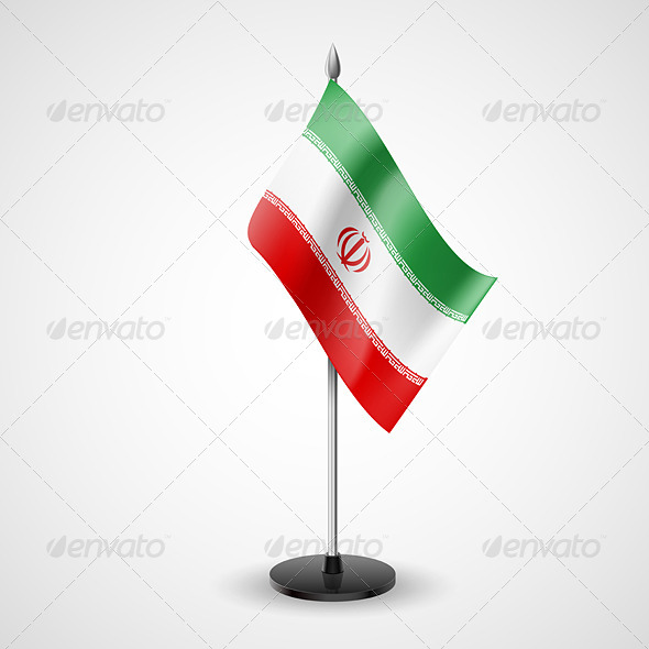 GraphicRiver Table Flag of Iran 7208880