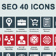 SEO Icons 40 - GraphicRiver Item for Sale