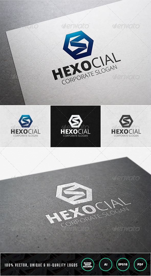GraphicRiver Hexocial Logo Template 7209068