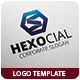Hexocial Logo Template - GraphicRiver Item for Sale