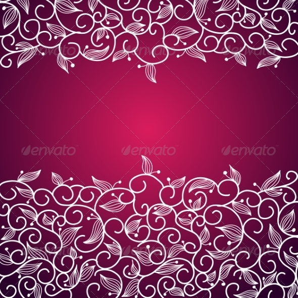 GraphicRiver Lace Floral Ornamental Frame 7209111
