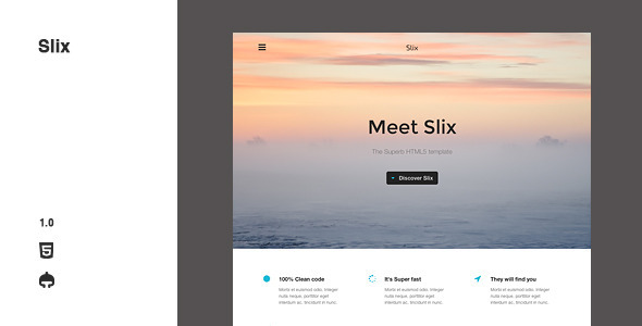 ThemeForest Slix Responsive Multipurpose HTML5 Template 7209282