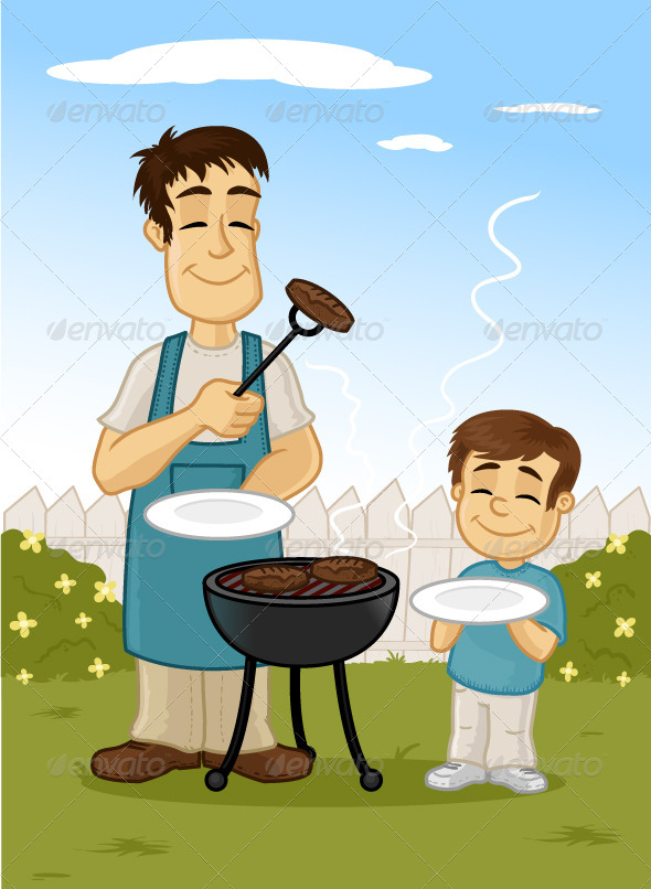 GraphicRiver Family Barbecue 7209613