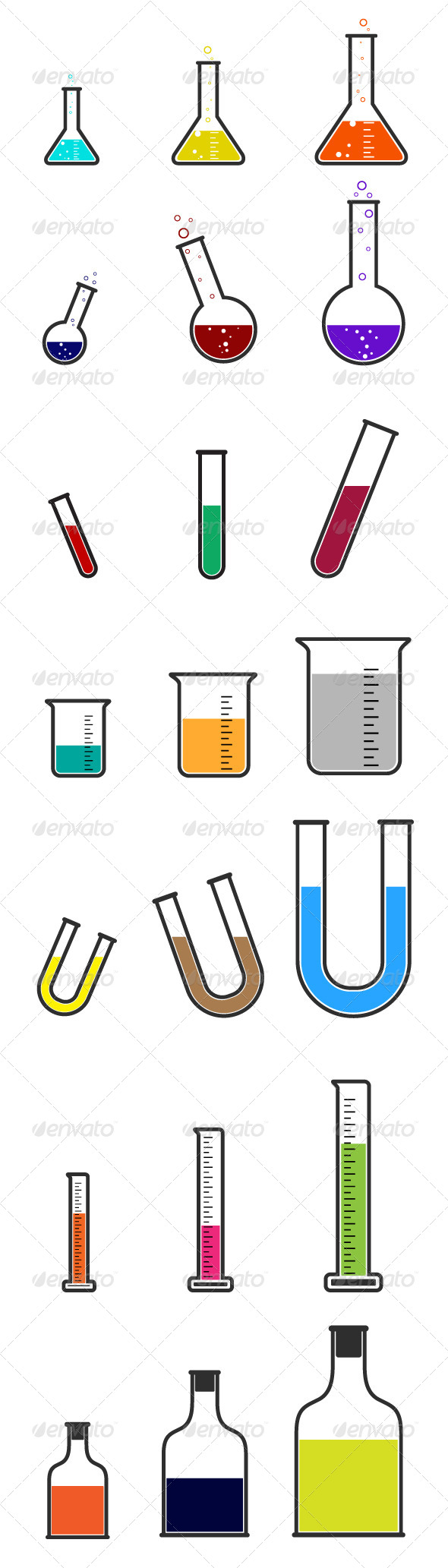 GraphicRiver Laboratory Equipmet Icons 7209697