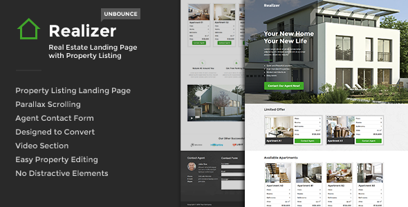 ThemeForest Realizer Real Estate Landig w Property Listing 7209757