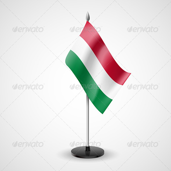 GraphicRiver Table Flag of Hungary 7209763