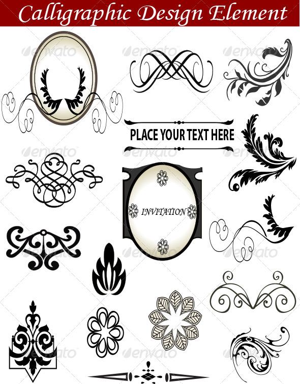 GraphicRiver Calligraphic Design Element 7210377