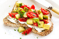 Toast with Cream Cheese Avocado and Tomato - PhotoDune Item for Sale