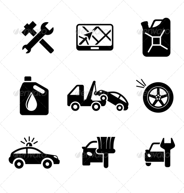 GraphicRiver Automobile Icons 7210729
