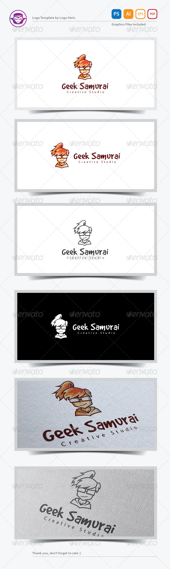GraphicRiver Geek Samurai Logo Template 7211654