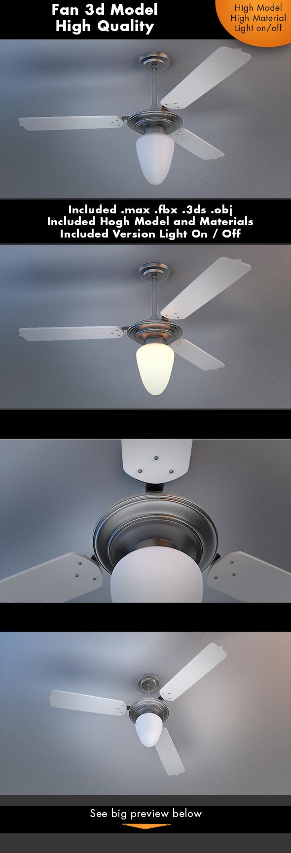 3DOcean Fan 3D Model 7211678