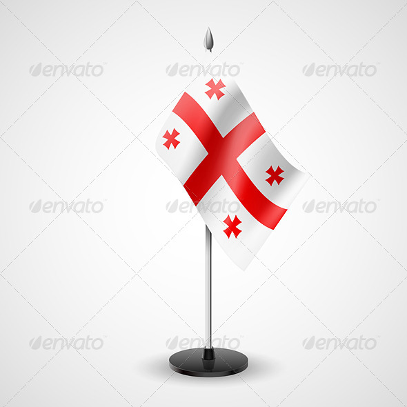 GraphicRiver Table Flag of Georgia 7211679