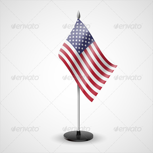 GraphicRiver Table Flag of USA 7211682