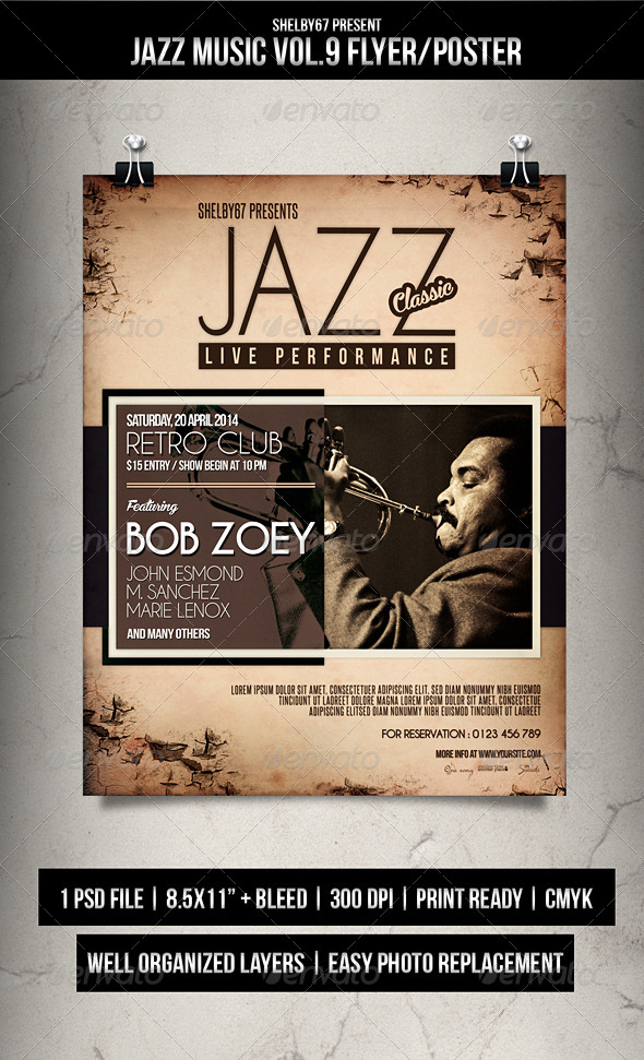 GraphicRiver Jazz Music Flyer Poster Vol.9 7211718