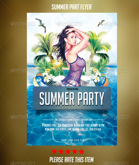 GraphicRiver Summer Party Flyer 7212370