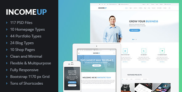 ThemeForest IncomeUp Multi-purpose Business PSD Template 7213066