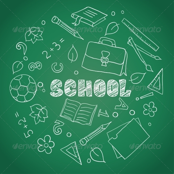 GraphicRiver Sketch of School Elements 7213211