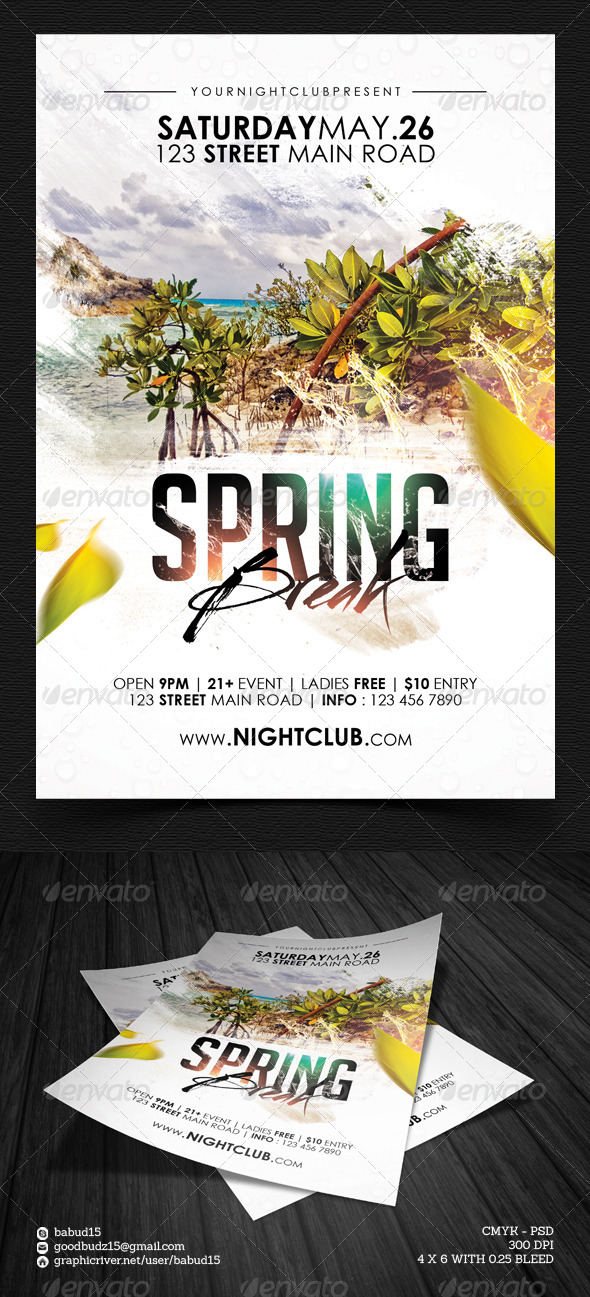 GraphicRiver Spring Break Flyer Template Vol 2 7213244