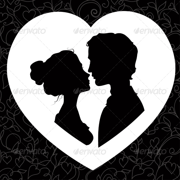 GraphicRiver Silhouettes of Loving Couple 7213248