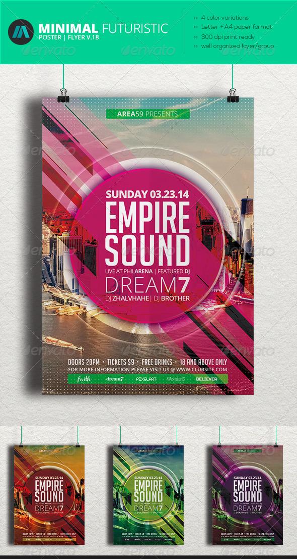 GraphicRiver Minimal Futuristic Poster Flyer V.18 7214280