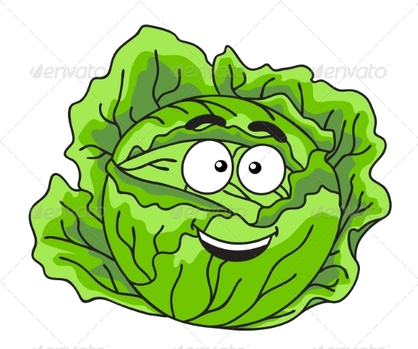 GraphicRiver Cabbage Cartoon 7214440