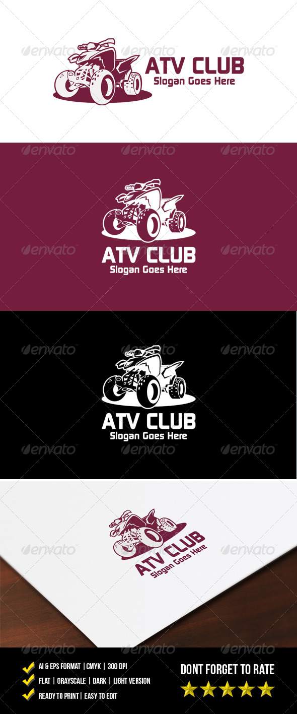 GraphicRiver ATV Club Logo 7214479