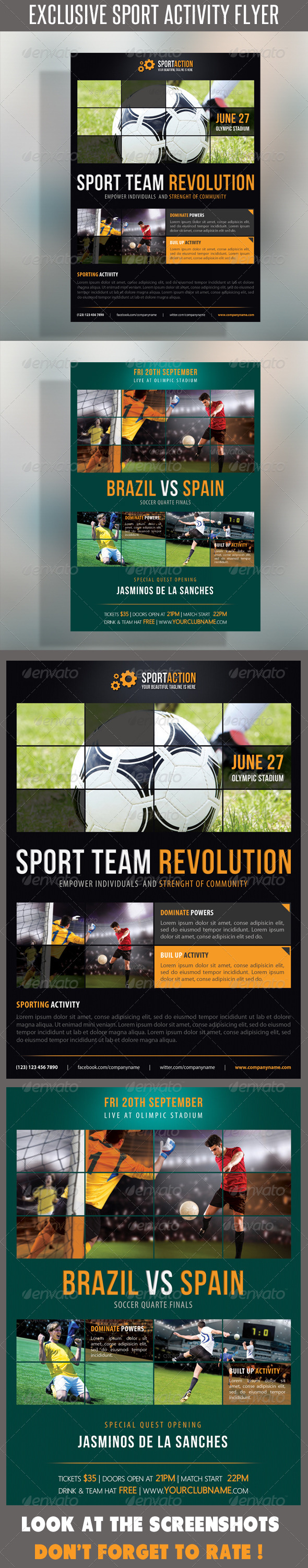 GraphicRiver Sport Multipurpose Flyer 15 7214762