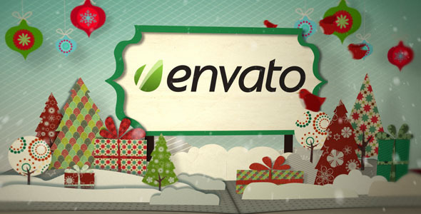 After Effects Project - VideoHive Holiday Pop Up Book Logo Opener 756013
