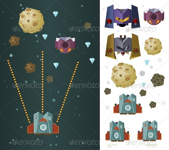 GraphicRiver Galaxy War Game Assets 7215349