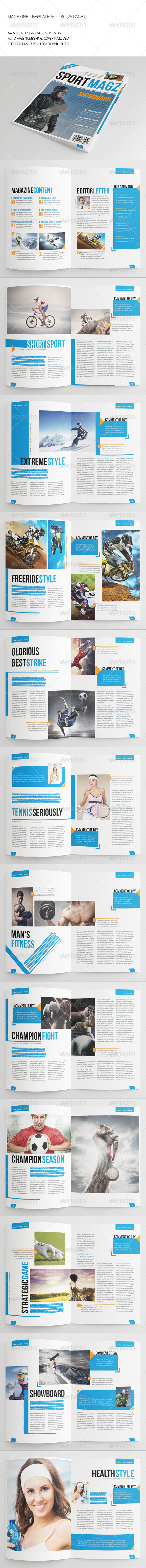 GraphicRiver 25 Pages Sport Magazine Vol30 7215537