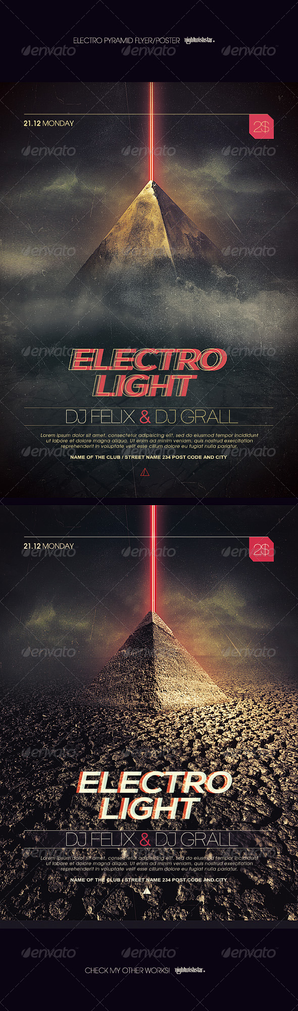 GraphicRiver Electro Pyramid Party Poster 7215576