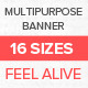 Multipurpose Banner Set Vol.2 - GraphicRiver Item for Sale