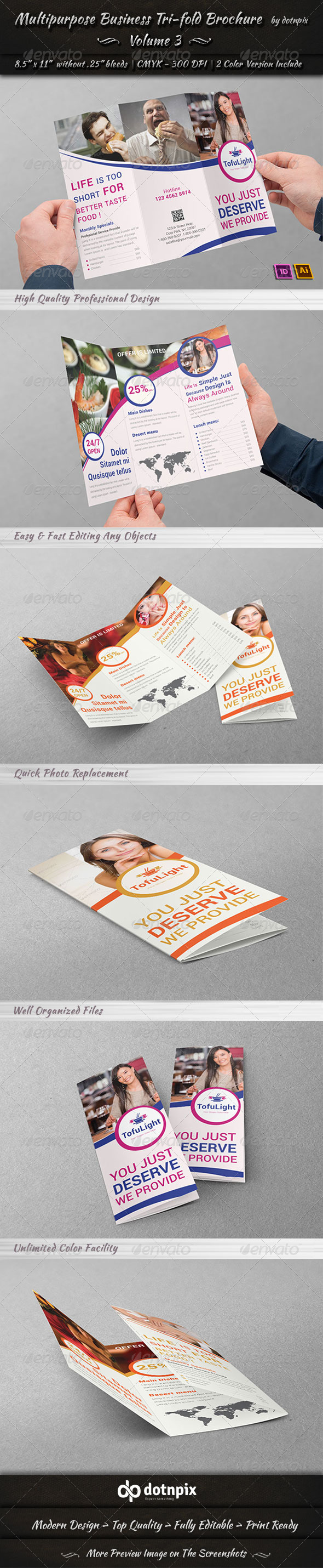 GraphicRiver Multipurpose Business Tri-Fold Brochure Volume 3 7215941