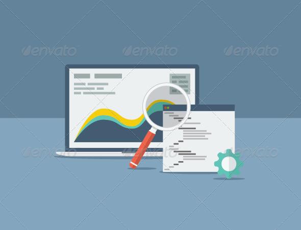 GraphicRiver Flat SEO Design Concept 7215970