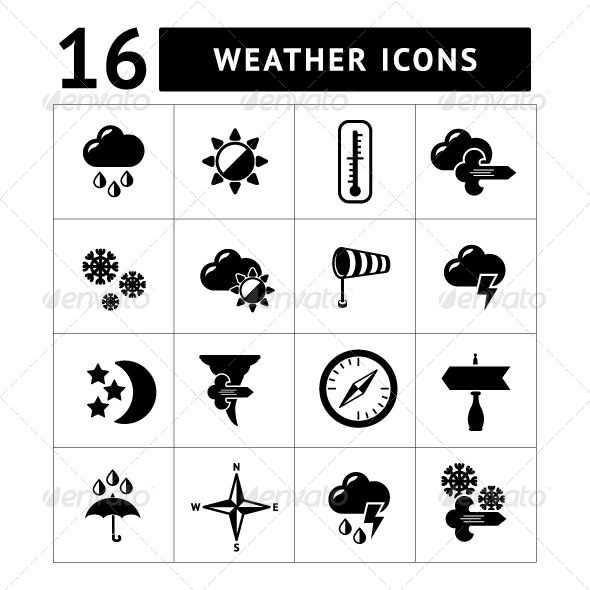 GraphicRiver Set Icons of Weather 7215985