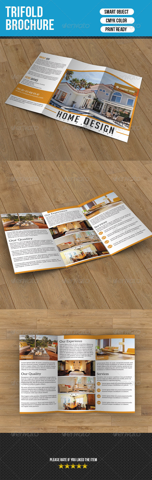 GraphicRiver Trifold Brochure-Real Estate Company 7216072
