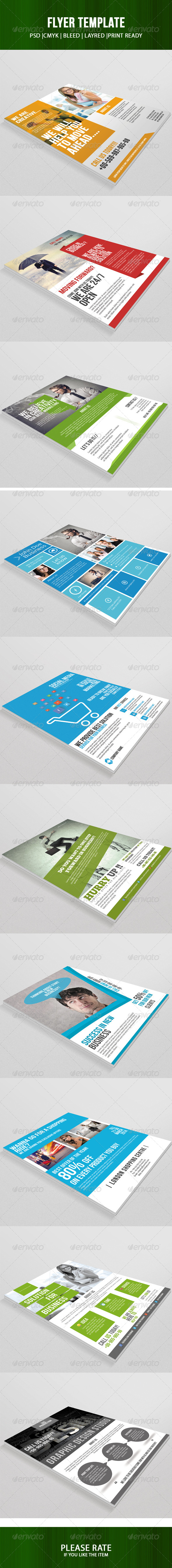 GraphicRiver 10 Flyer Template Bundle 7216168