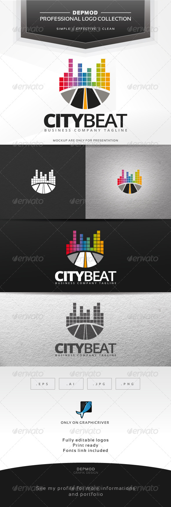 GraphicRiver City Beat Logo 7216230