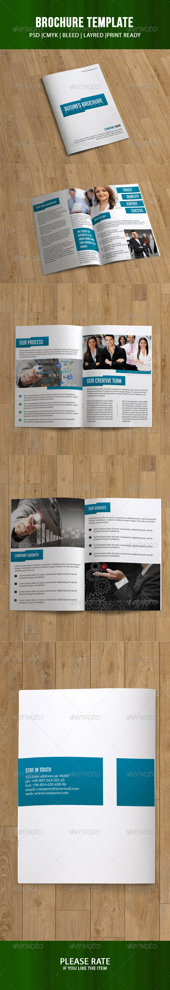 GraphicRiver Bifold Business Brochure 7216239