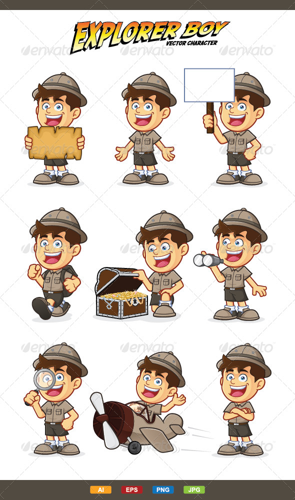 GraphicRiver Boy Scout or Explorer Boy Character 7216244