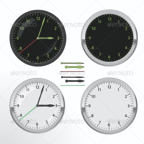 GraphicRiver Clock Set 7216246
