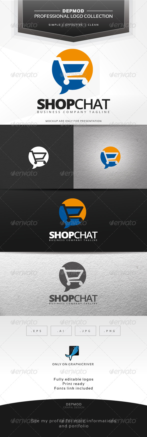 GraphicRiver Shop Chat Logo 7216266