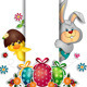 Easter Eggs Rabbit and Chick - GraphicRiver Item for Sale