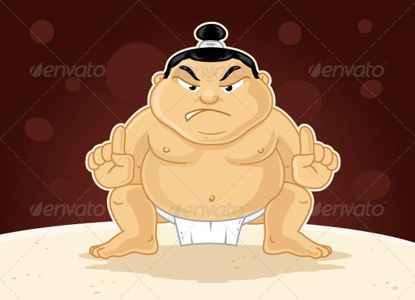 GraphicRiver Sumo Wrestler 7216492